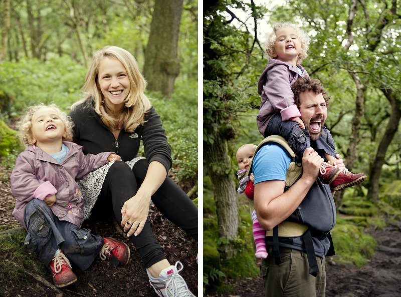 Padley Gorge Family Portrait Photography