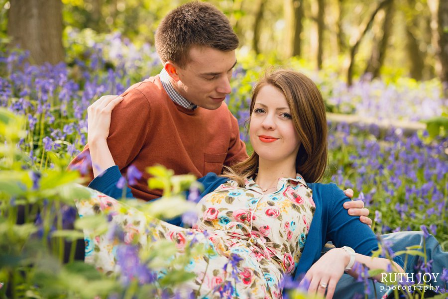 Romantic couple shoot in the Bluebells