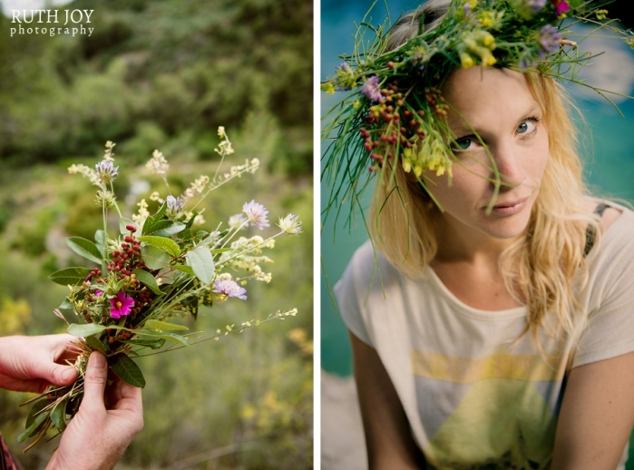 Alternative hen party floral bridal crown