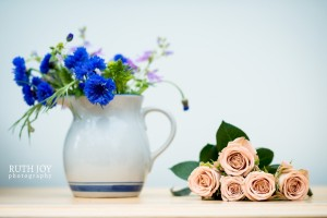 Roses and cornflowers