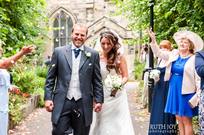 Documentary Wedding Photography Leicestershire at St Catherines Church Burbage