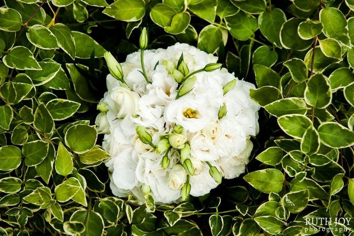 White Bridal Bouquet by Blooming Lovely Flowers, Hinkley
