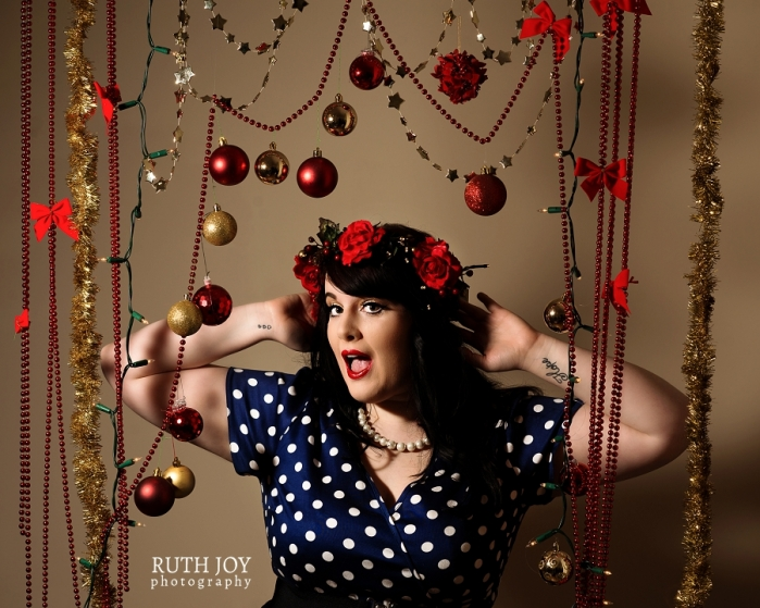 Vintage Inspired Christmas Pin-Up